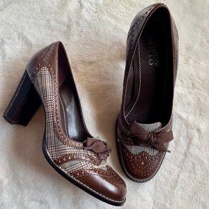 Franco Sarto Leather Heels Oxford Heels Pumps Bow